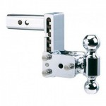 "Chrome Tow & Stow Hitch (5"" drop x 5 1/2"" rise) Dual Ball (2"" x 2-5/16"")"
