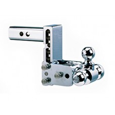 "Chrome Tow & Stow Hitch (5"" drop x 5 1/2"" Rise) Tri Ball (1 7/8"" x 2"" x 2-5/16"")"