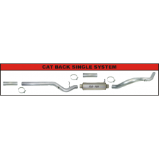 "FLO-PRO Aluminized 4"" Cat-Back Exhaust with Muffler"
